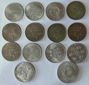DDR, Lot 5.- und 10.- Mark - Münzen. Dazu 1 x 20.- Mark. Bitte besichtigen. Erhaltung: ss.GDR, Lot
