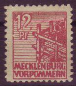 SBZ Mecklenburg - Vorpommern 1946, Mi. - Nr. 36 y d. Geprüft Kramp. ** .SBZ Mecklenburg - Vorpommern