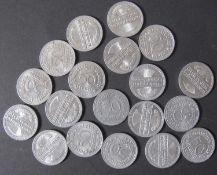 Deutsches Reich 1919-22, Lot 50 Pfennig - Münzen: 1919/20 D+J, 1921 A, D, J, 1922 A+G. Bitte
