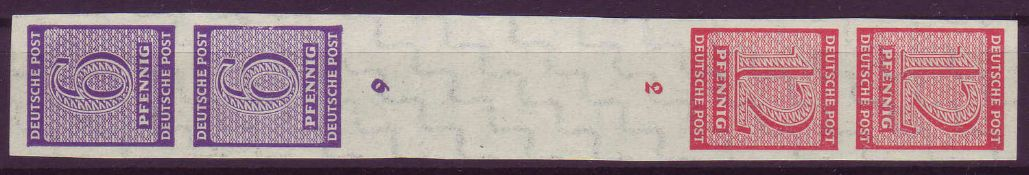 SBZ West - Sachsen 1945, Mi. - Nr. Sk Zd 2. **.SBZ West - Saxony 1945, Mi. - No. Sk Zd 2. **.