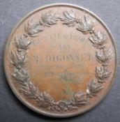 Medaille Licence de Droit francais.1870. Faculte de droit A´Aix. Kupfer.Medal License de Droit