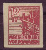 SBZ Mecklenburg - Vorpommern 1946, Mi. - Nr. 36 y d u. Geprüft Kramp. ** .SBZ Mecklenburg -