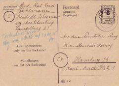 SBZ Mecklenburg - Vorpommern 1945, Mi. - Nr. P 897 II. O. Andreaskreuz. Gelaufen von Wismar nach