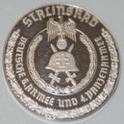 Silber Gedenkmünze, 999er Silber, 6. Armee und 4. Panzerarmee. Gewicht ca. 50 grSilver commemorative