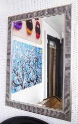 Lot 52 - MIRROR, bevelled in a silvered frame, 103cm x 74cm.