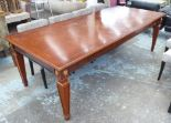 Lot 16 - DINING TABLE, French Empire style, extendable with one leaf, 250cm L x 110cm D x 88cm H.