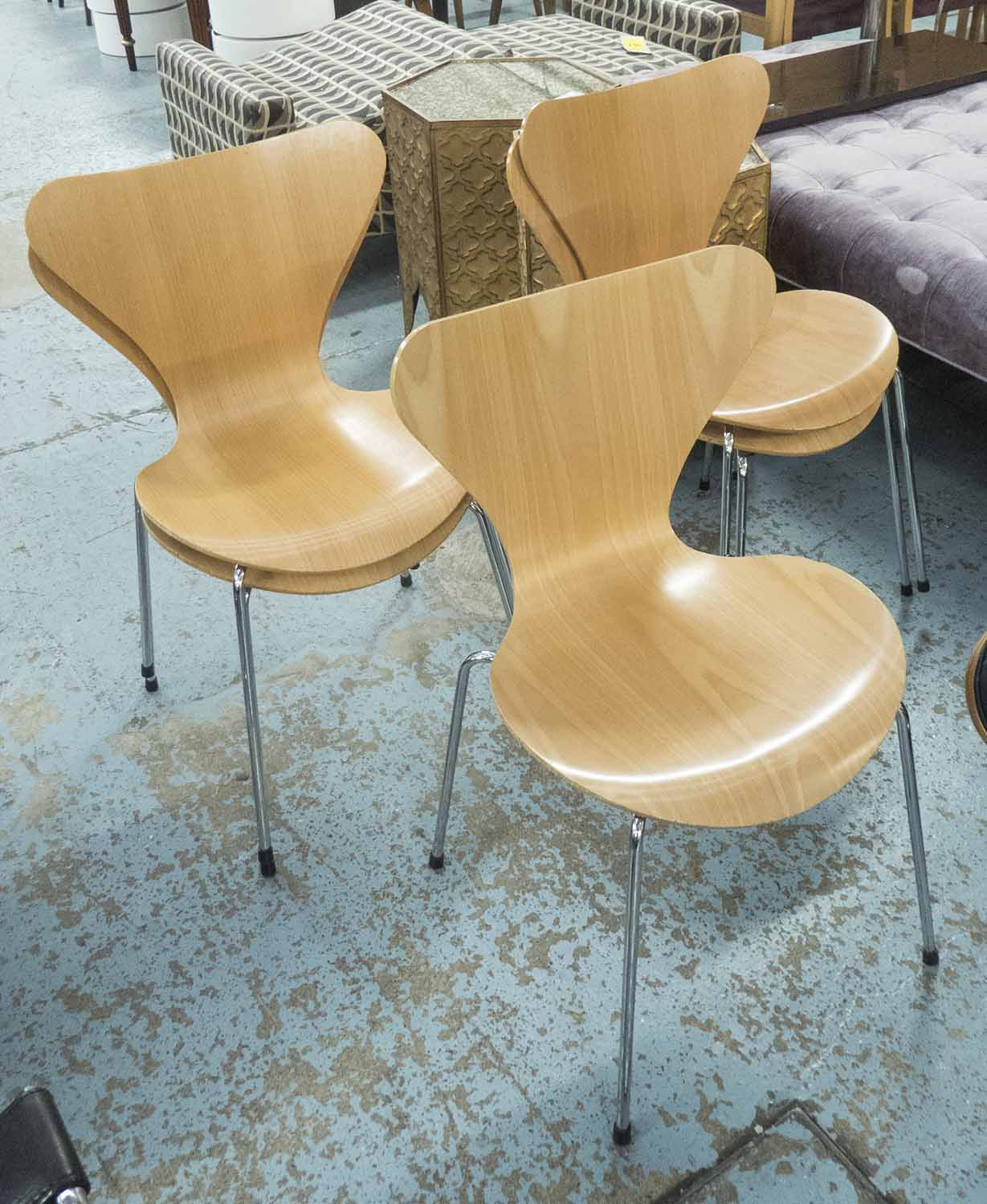 lot 34 fritz hansen series 7 chairs a set of five by arne