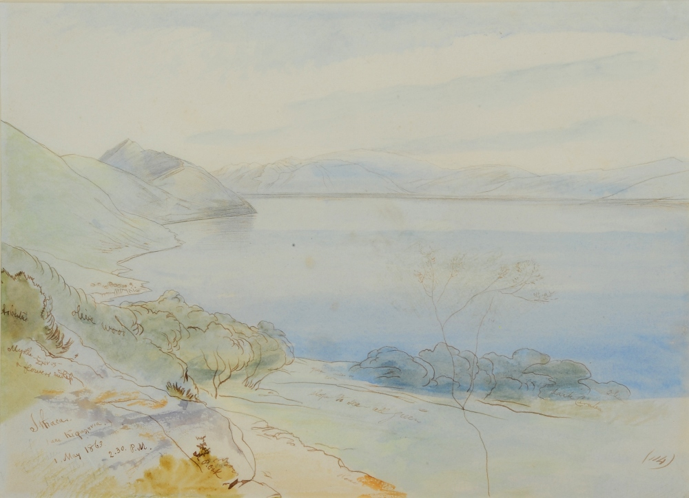 EDWARD LEAR (1812-1888) 'Ithaca', inscribed with title and dated 1 May 1863 2.30pm, numbered '