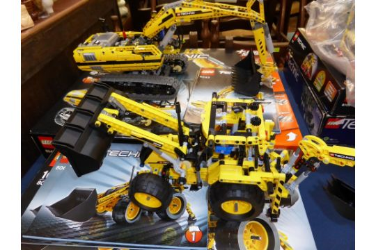 A Lego Technic 8043 Excavator 8069 Backhoe Loader Both Used With