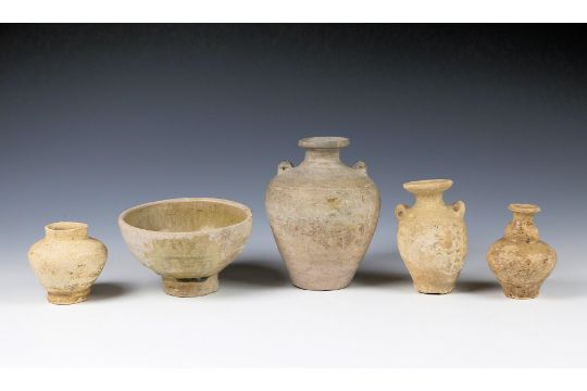 A Small Collection Of Ancient Chinese And Burmese Pottery In