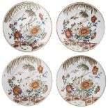 A PAIR OF CHINESE EXPORT PORCELAIN PLATES AND A PAIR OF BOWLS, QIANLONG PERIOD 1736-1795