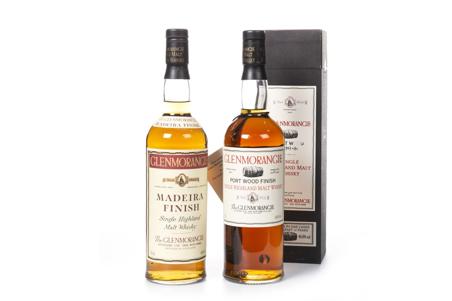 Lot 1038 - GLENMORANGIE MADIERA FINISH 12 YEARS OLD & GLENMORANGIE PORT FINISH 12 YEARS OLD