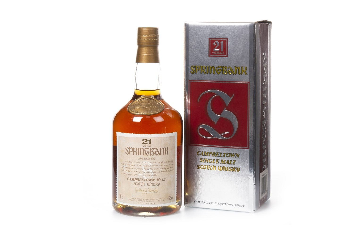 Lot 1029 - SPRINGBANK 21 YEARS OLD
