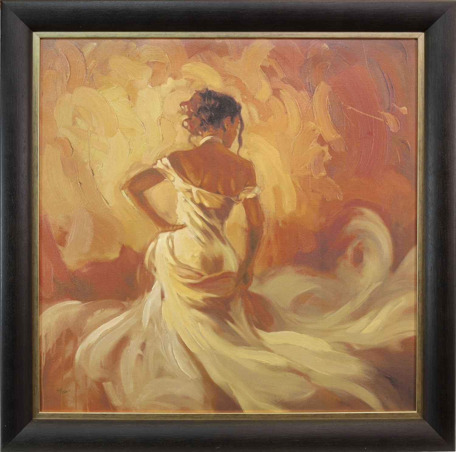 Lot 32 - PURE ELEGANCE, A SIGNED LIMITED EDITION GICLEE PRINT ON CANVAS BY MARK SPAIN