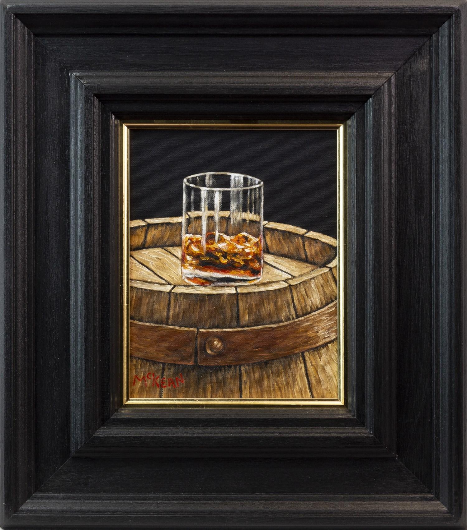 Lot 40 - A SINGLE CASK MALT, AN OIL ON CANVAS BY GRAHAM MCKEAN