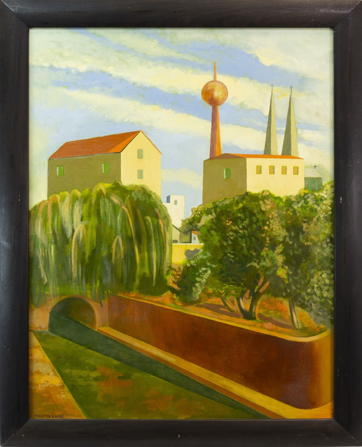 Lot 26 - AFTERNOON IN BERLIN, AN OIL ON CANVAS BY MARTIN KANE