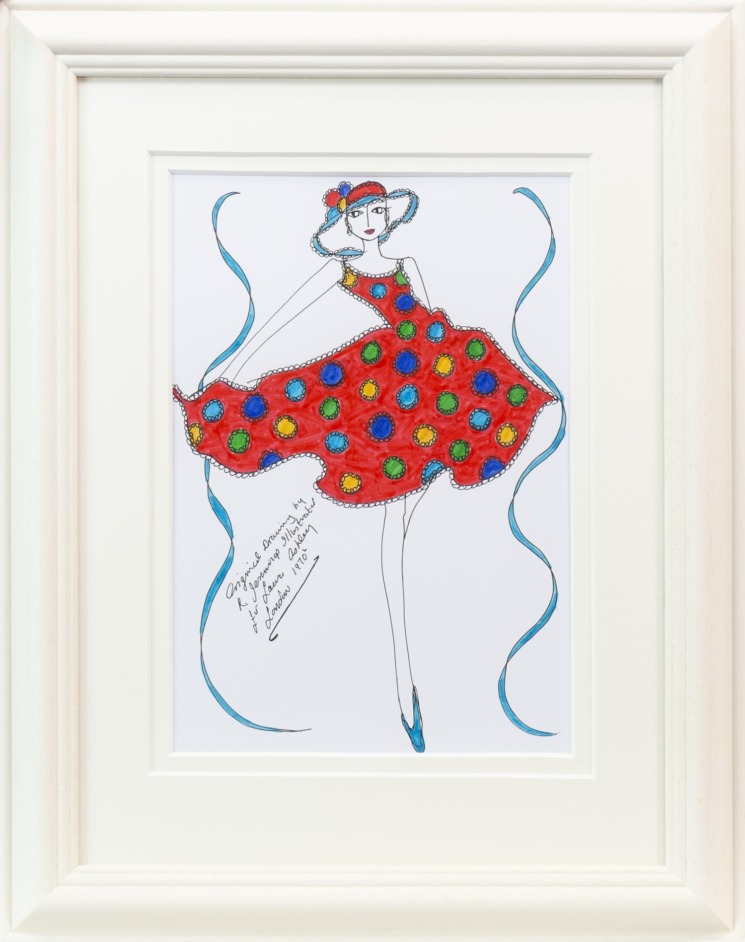 Lot 36 - AN ORIGINAL ILLUSTRATION FOR LAURA ASHLEY, BY ROZ JENNINGS