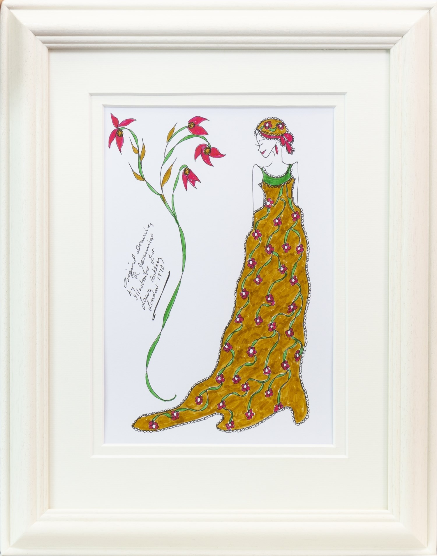 Lot 39 - AN ORIGINAL ILLUSTRATION FOR LAURA ASHLEY, BY ROZ JENNINGS