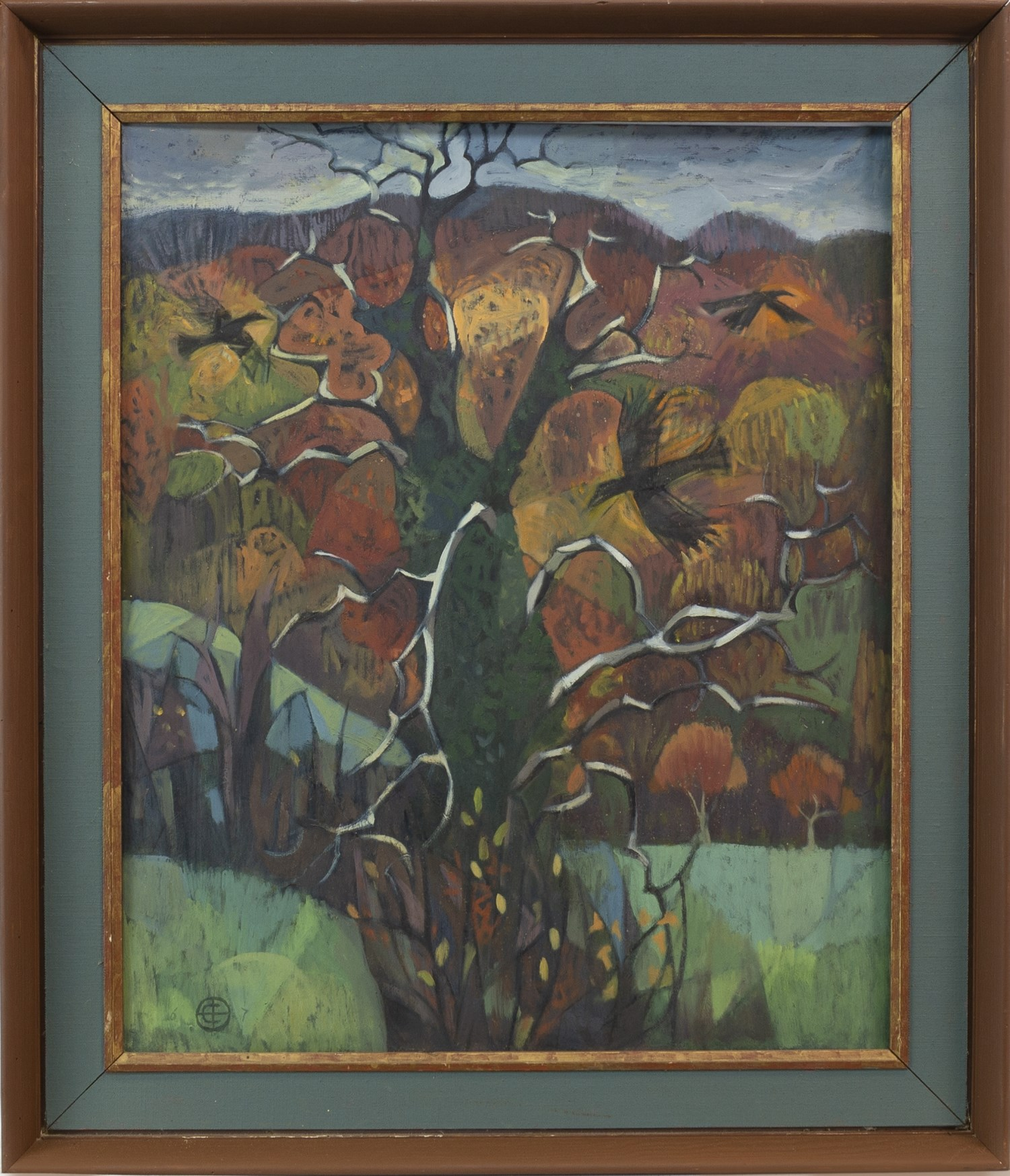 Lot 19 - RAVENS CIRCLING THE TREE OF KNOWLEDGE, BY CHRISTINA BROOKS
