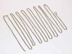 Silber Gschnürkette, L 230 cm