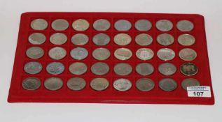 40 x 5 Schweizer Franken Gedenkmünzen