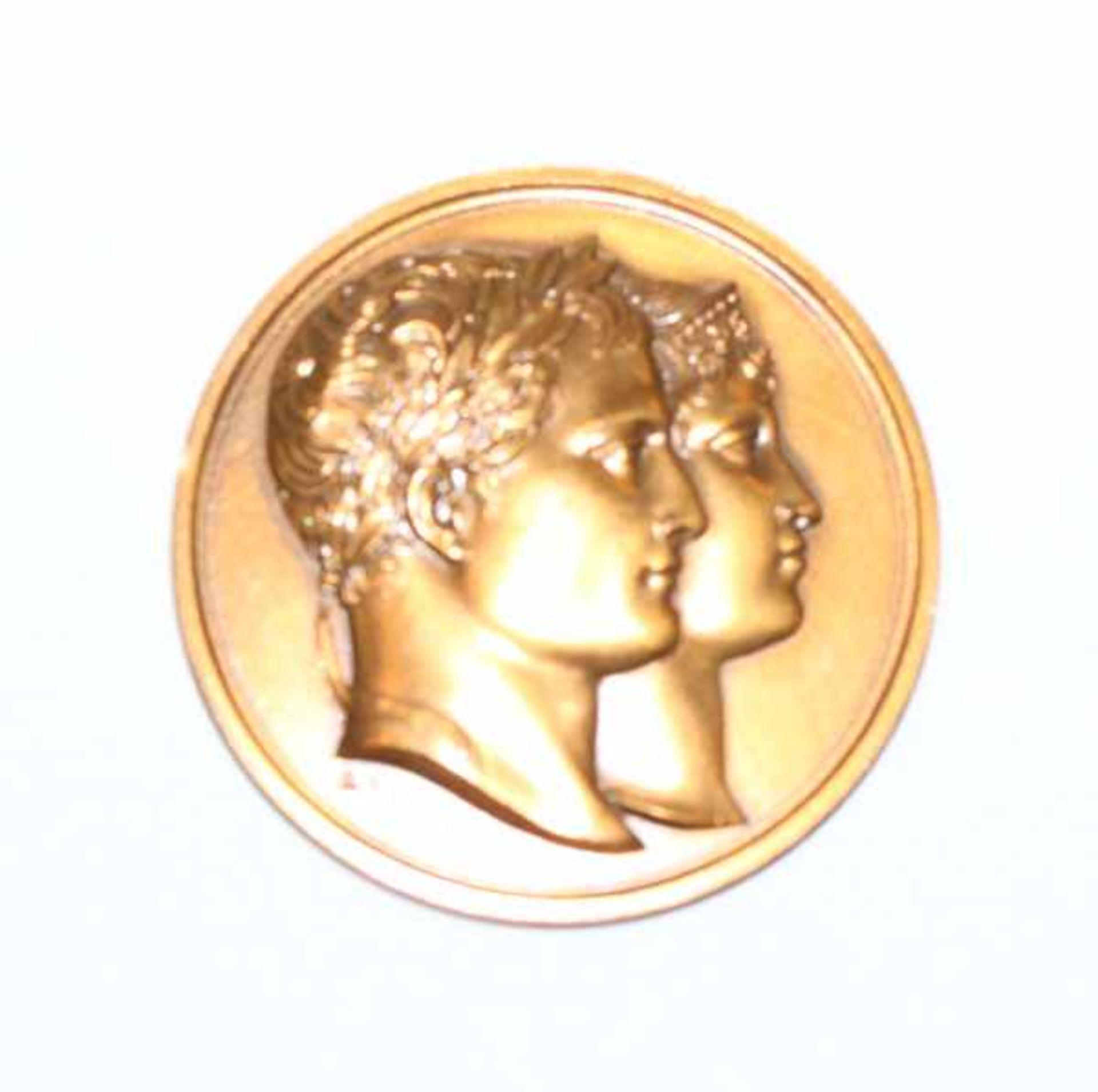 Los 105 - Napoleon Medaille zum Tod von Luise von Preußen, 1810, Bronze, in Originaletui