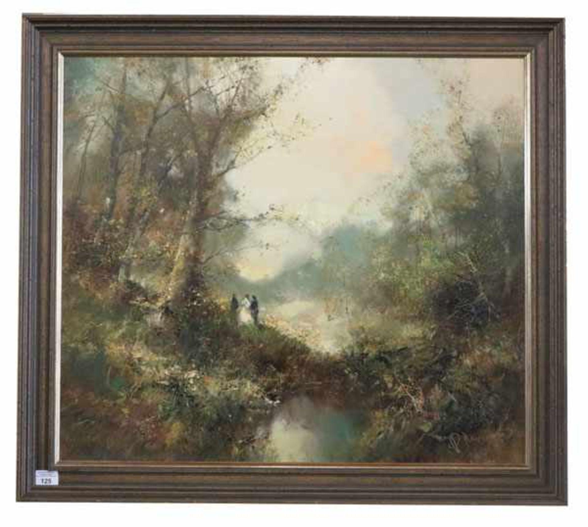 Los 125 - Gemälde ÖL/LW 'Landschafts-Szenerie', signiert P. Morrò, (Ingfried Henze), * 1925 Leipzig + 2013,