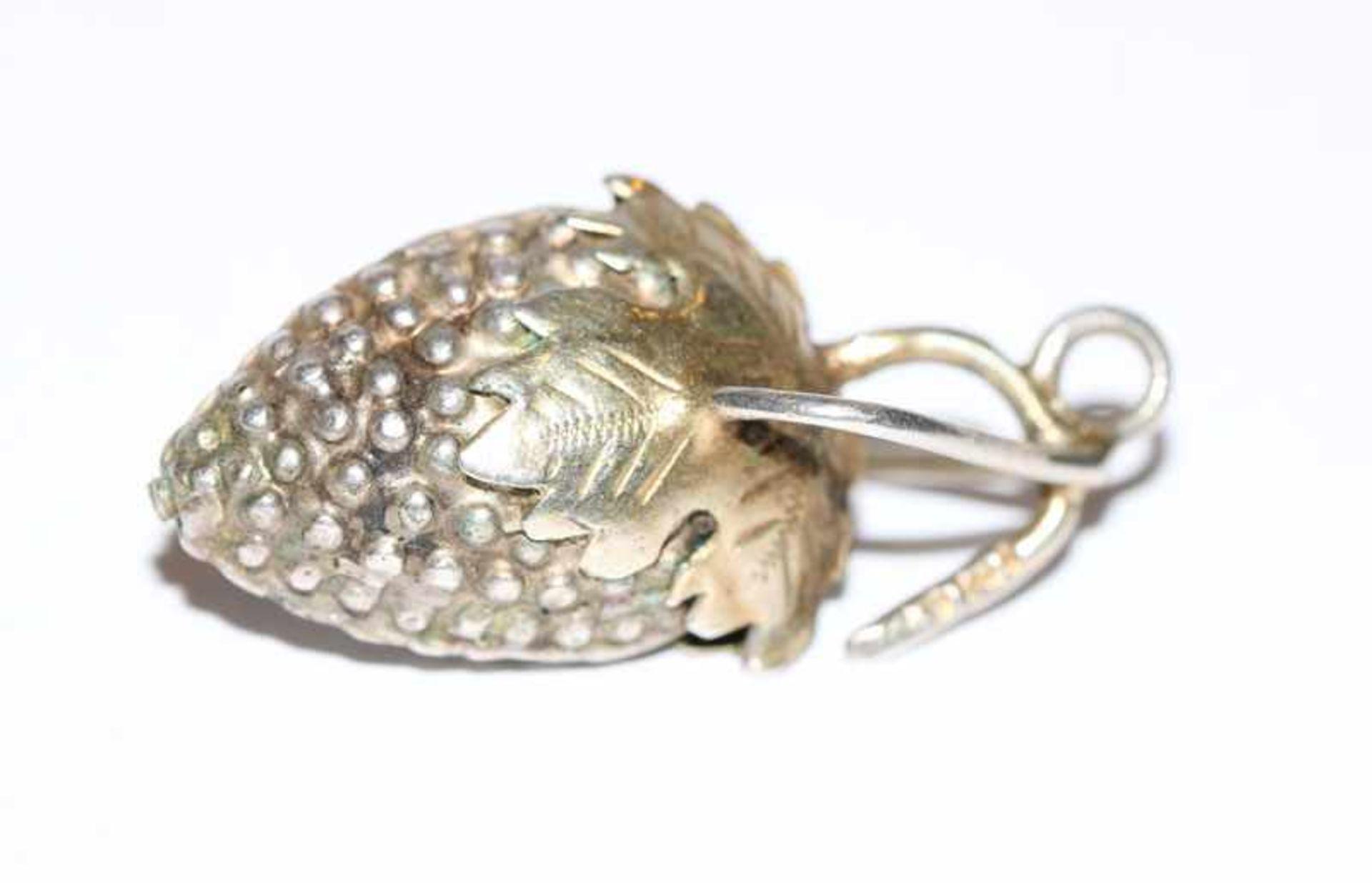 Los 19 - Silber Trachten-Anhänger 'Traube', Augsburg 13 Lot Silber, L 3,5 cm
