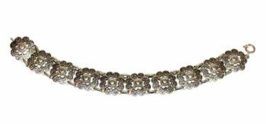Silber Armband, filigrane Handarbeit, L 20 cm