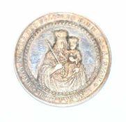 Andenken Medaille zur Taufe, 19. Jahrhundert, Silber, in Originaletui