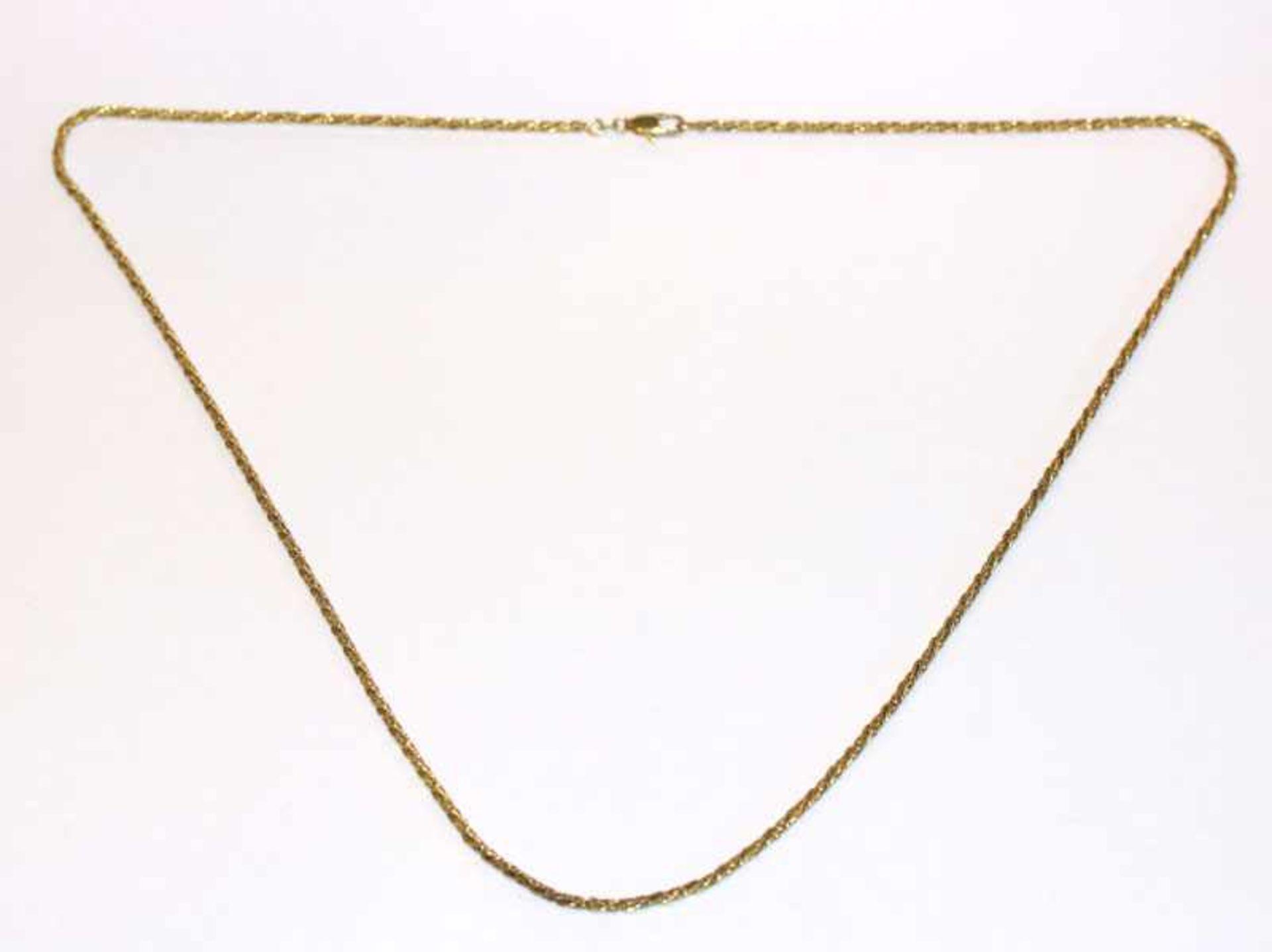 Los 87 - Silber/vergoldete Kette in gedrehter Form, L 78 cm