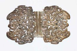 Schließe, Sterlingsilber, Birmingham, H 7 cm, B 10,5 cm