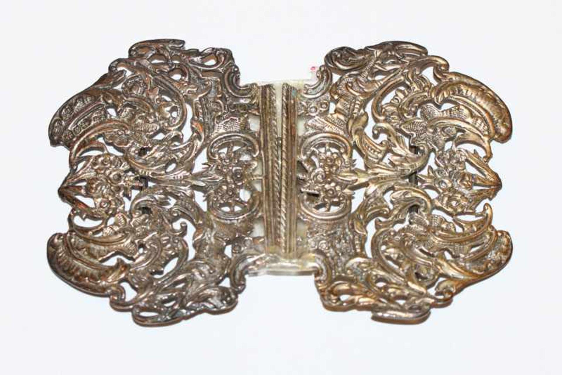Los 64 - Schließe, Sterlingsilber, Birmingham, H 7 cm, B 10,5 cm
