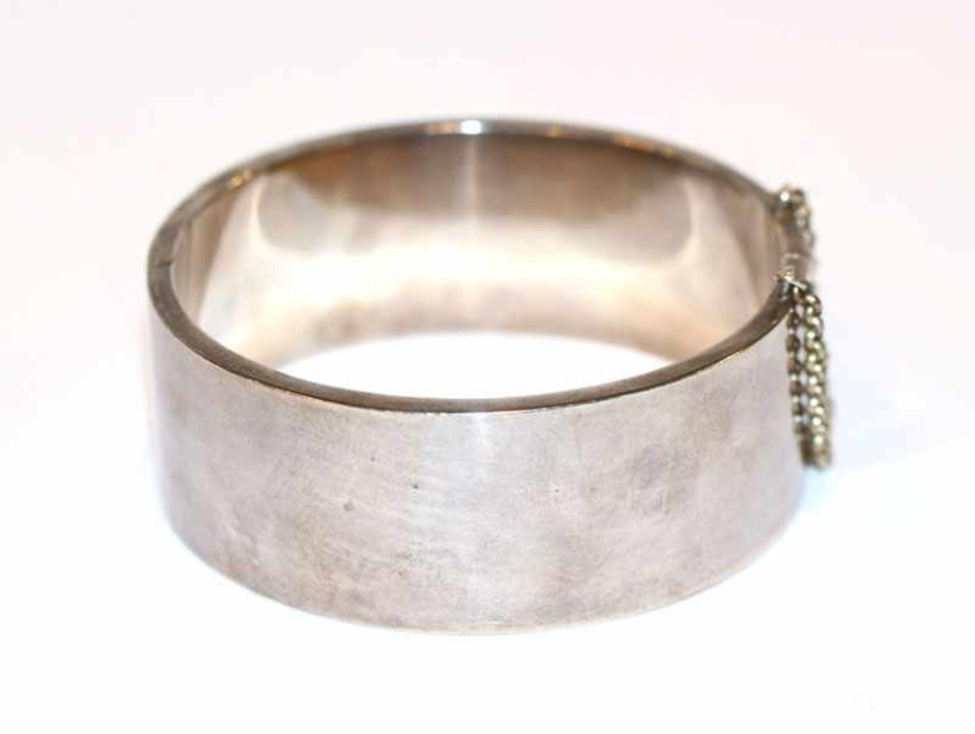 Los 21 - Armreif, 925 Silber, 40 gr., D 6 cm, leichte Tragespuren