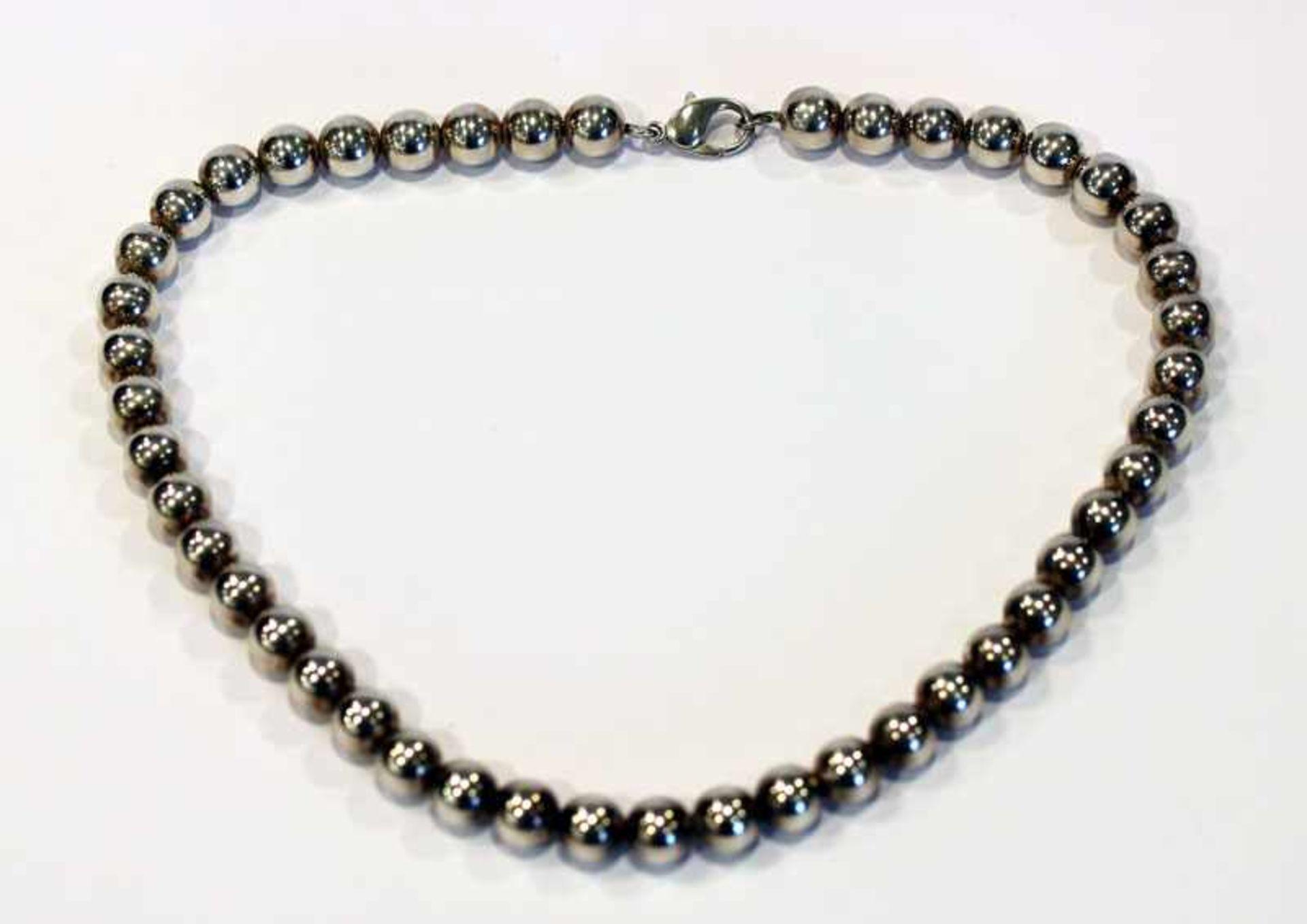 Los 20 - Silber Kugelkette, 800 Silber, 62 gr., L 42 cm