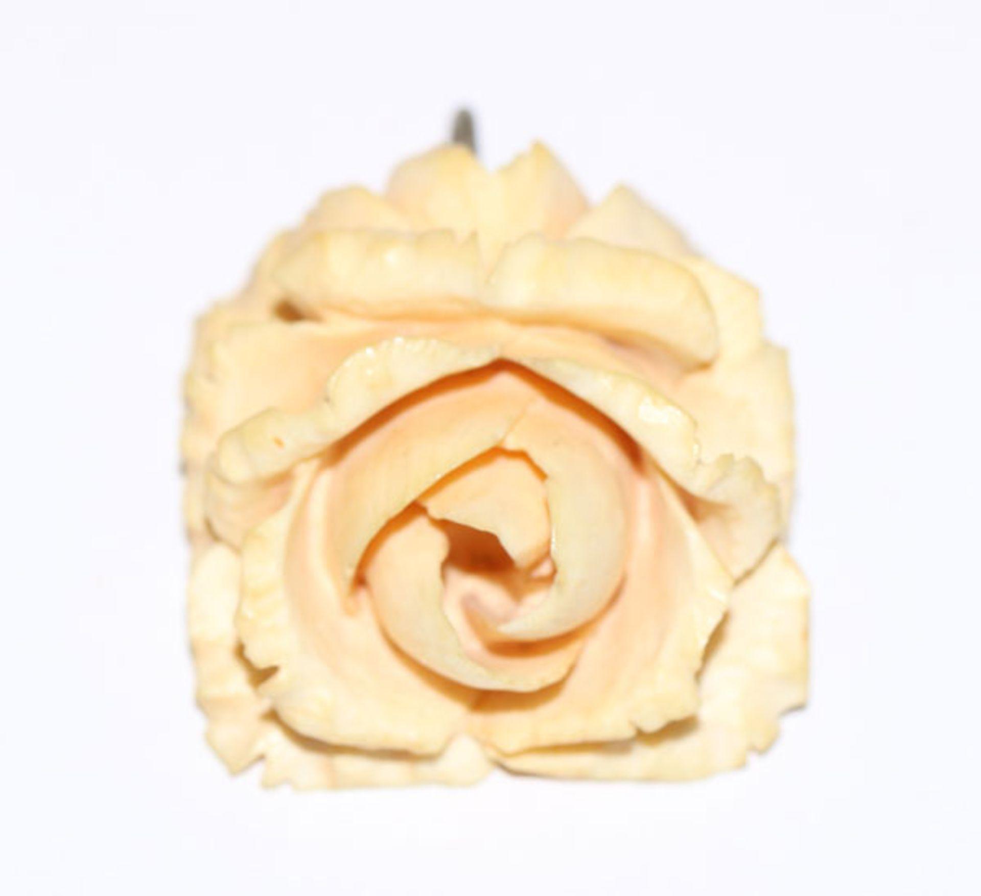Elfenbein Anhänger 'Rose', 3,7 cm x 3,5 cm