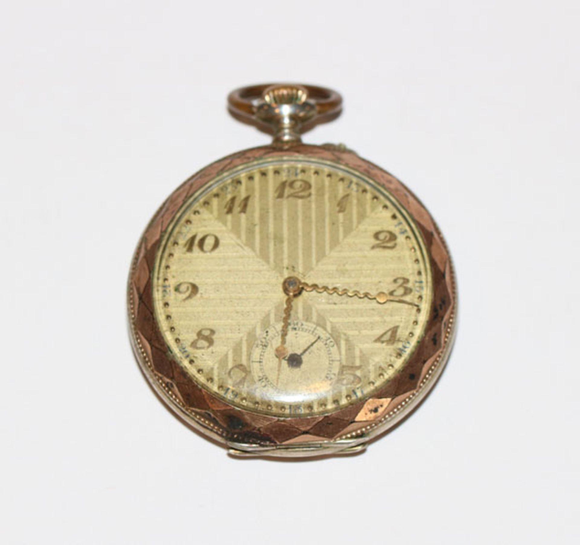 Silber Taschenuhr um 1920, intakt, Alters- und Gebrauchsspuren