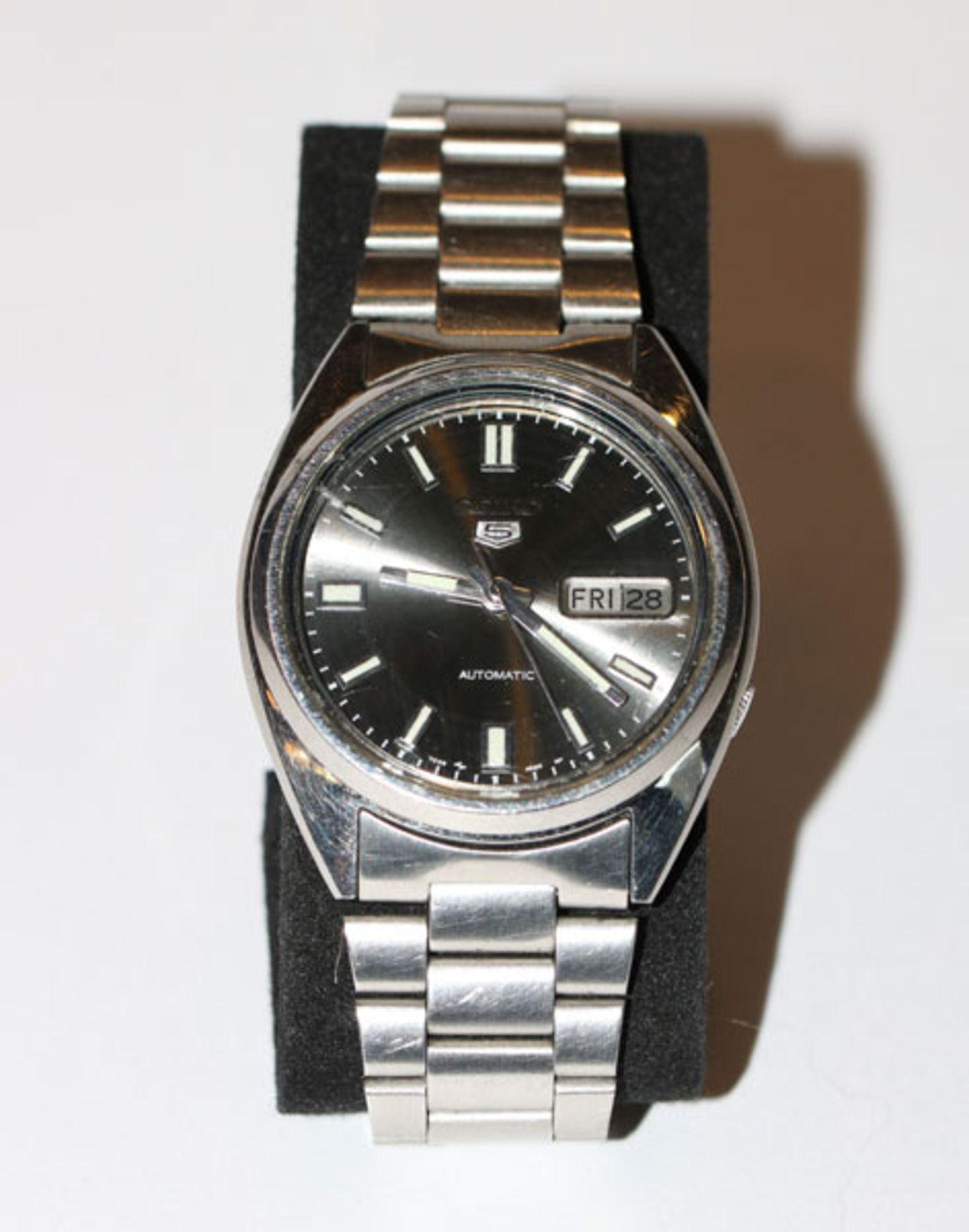 Seiko automatik Herren Stahl Armbanduhr mit Datum, intakt