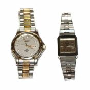 Seiko Herren-Armbanduhr, Quartz, Sports 150, und Seiko Damen-Armbanduhr, Quartz, beide Stahl und