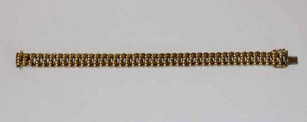 14 k Gelbgold Armband, L 20 cm, 25 gr.