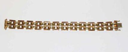 14 k Gelbgold Armband, L 20,5 cm, 32 gr.