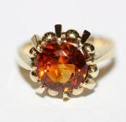 8 k Gelbgold Ring mit Turmalin ?, 5 gr., Gr. 57