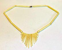 Bein Collierkette in ausgefallener Form, L 48 cm