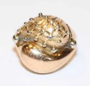 18 k Gelbgold Ring, massive Handarbeit, 8,6 gr., Gr. 51