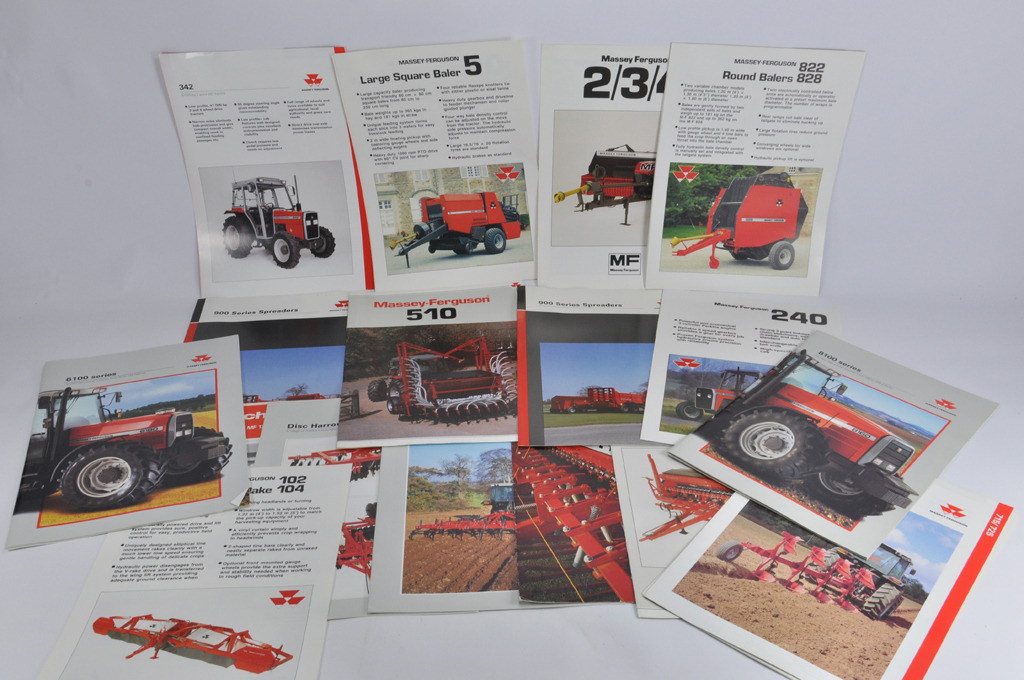 tractor and machinery sales literature manuals brochure group