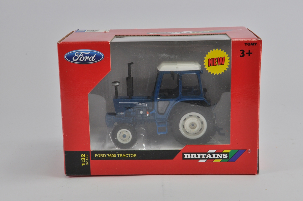 Lot 13 - Britains 1/32 Ford 7600 Tractor. Q Cab. NM in E Box.
