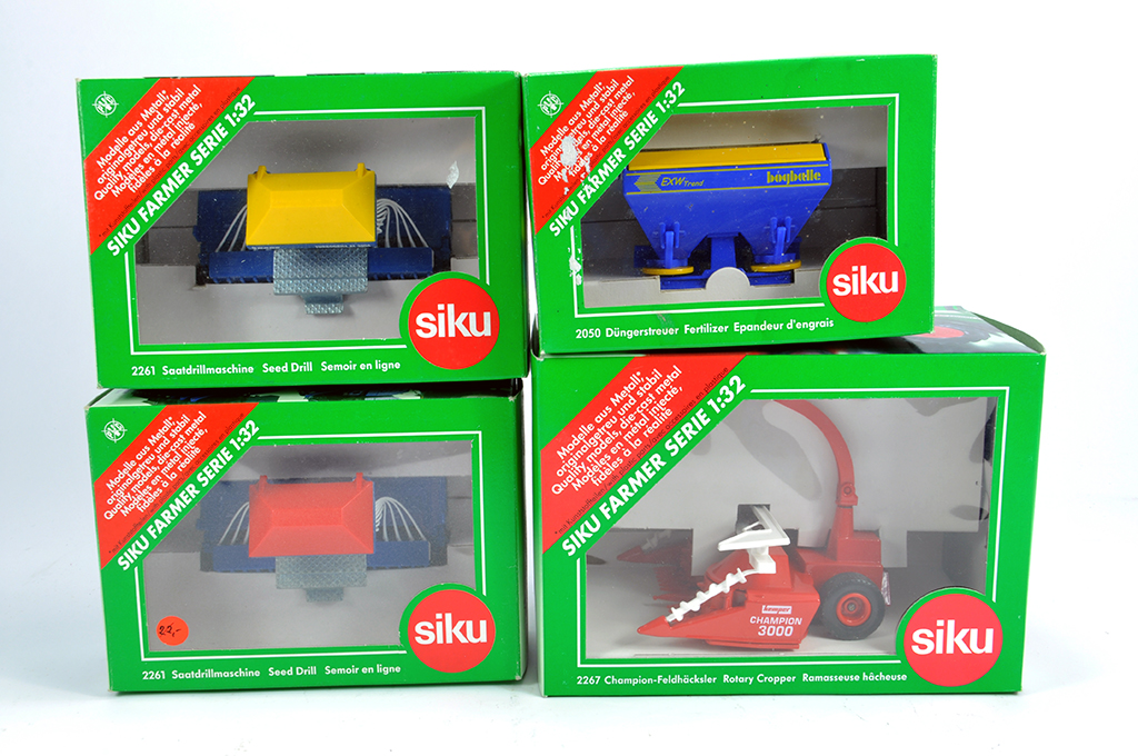 Lot 2 - Siku 1/32 Farm Selection comprising various implements. M in Boxes. (4)