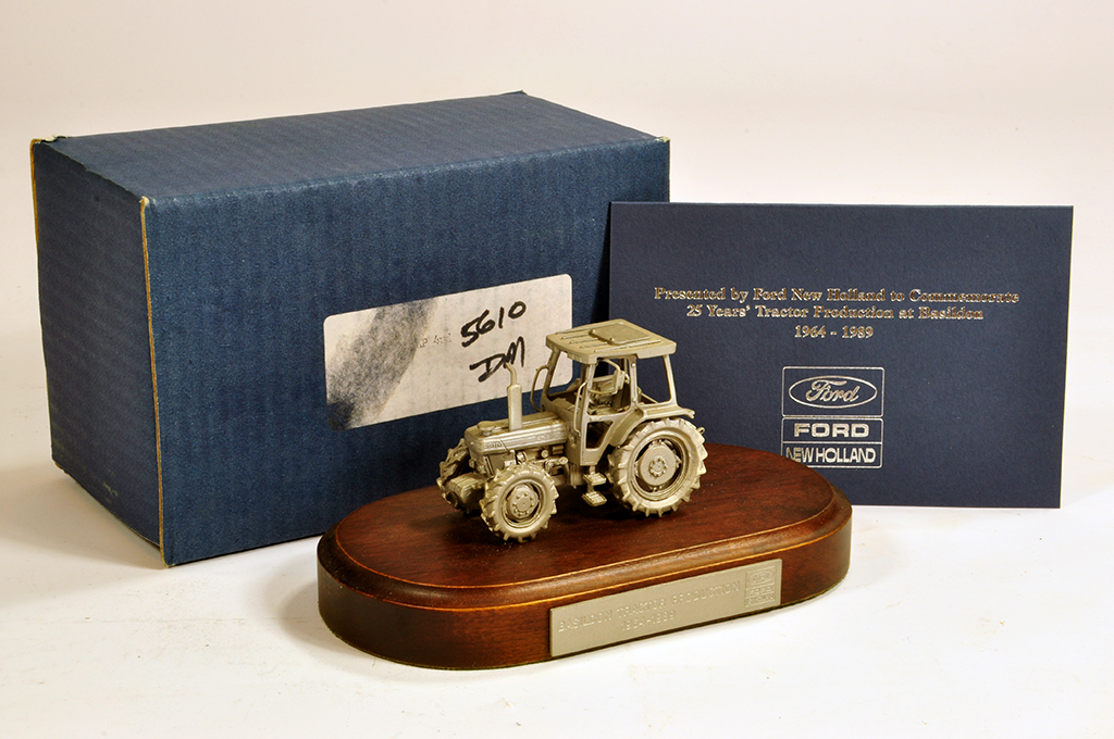 Lot 29 - Extremely Scarce Pewter Model of a Ford 5610 Tractor. Presented to Ford Tractor Dealers to