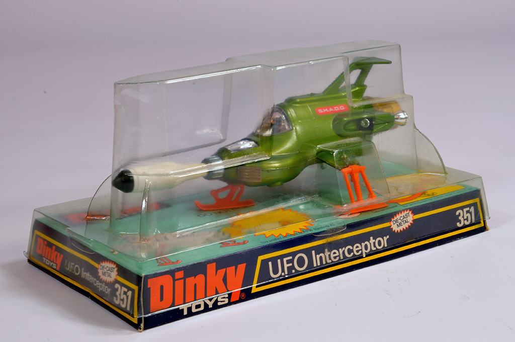 "Lot 35 - Dinky No. 351 ""UFO"" Shado Interceptor. Fine Example is NM in E Box."