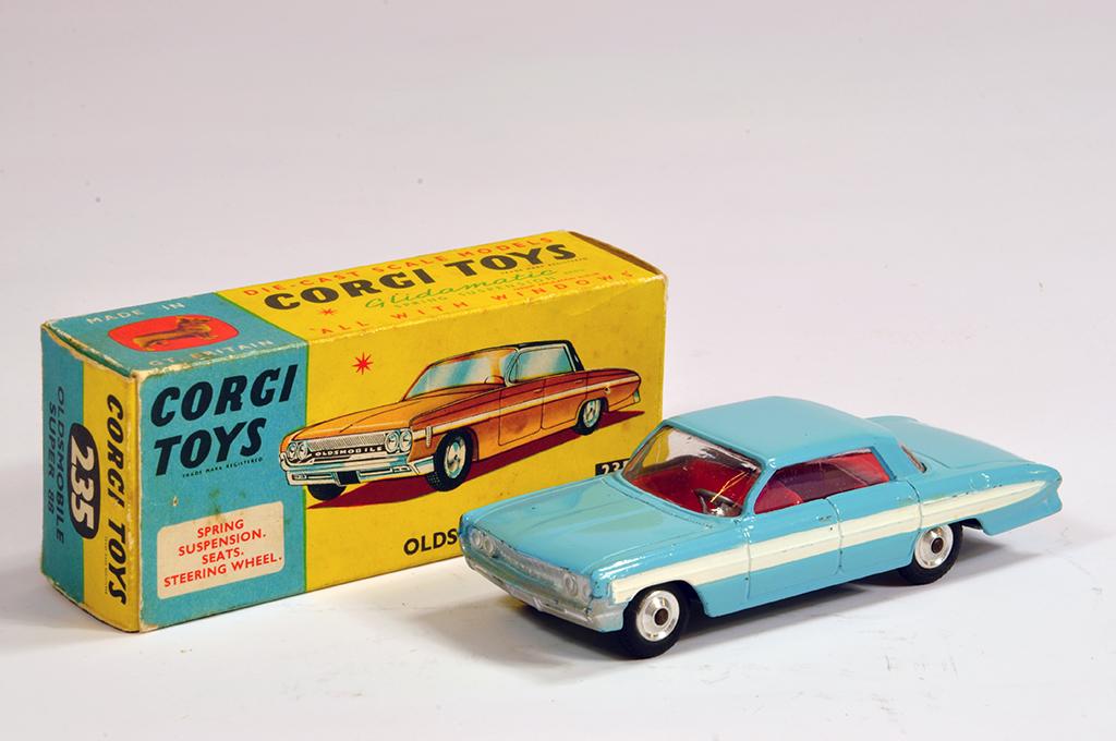 Lot 32 - Corgi No. 235 Oldsmobile Super 88 in Blue. E to NM in VG to E Box.